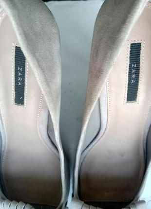 Замшевые туфли zara, размер 398 фото