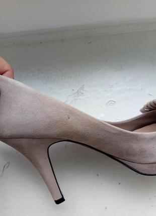 Замшевые туфли zara, размер 399 фото