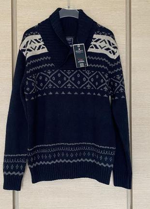Пуловер мужской плотный премиум бренд германии peckott размер l/xl