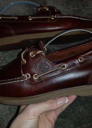 Кожаные туфли, топсайдеры, мокасины timberland classic boat.