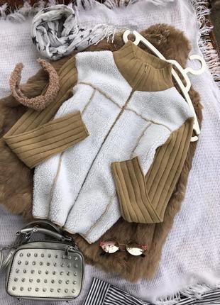 Трендовий білий світшот светр реглан джемпер свитшот худи полувер кофта