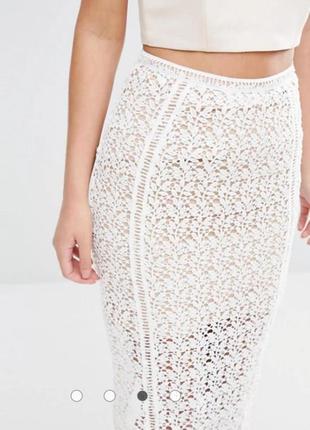 Новая кружевная юбка премиум класса 14/48-50 размера