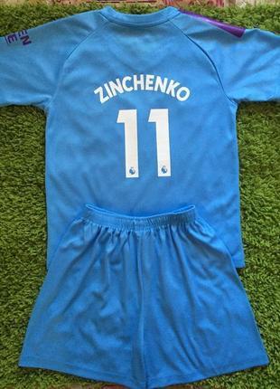 Детская футбольная форма manchester city zinchenko 11