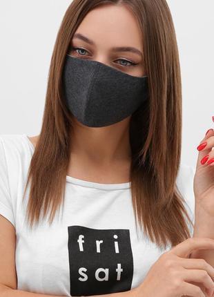 Темно-серая защитная маска