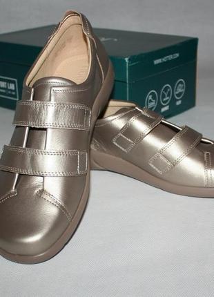 Бронзовые кожанные туфли hotter