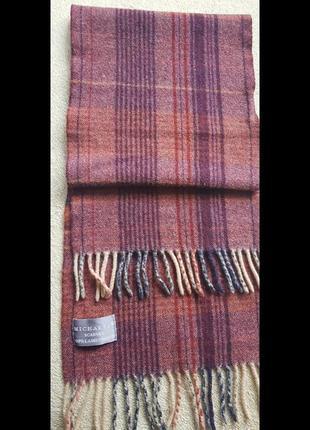 Чудовий клітчастий м'який шарф із шерсті шерстяний шарф в клітку
