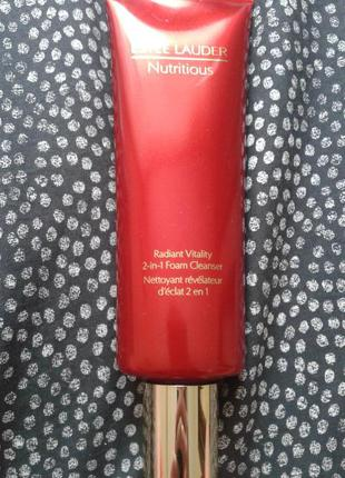 Estee lauder nutritious radiant vitality 2in1 foam cleancer 150мл