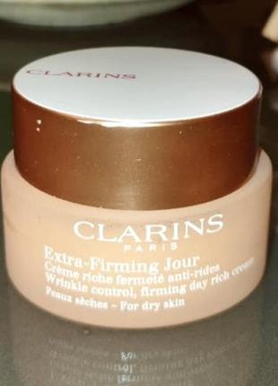 Антивозрастной крем укрепляющий дневной для лица clarins оригинал