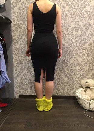 Платье (сарафан) летнее миди черное bershka