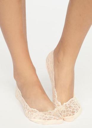 Эластичные кружевные носки