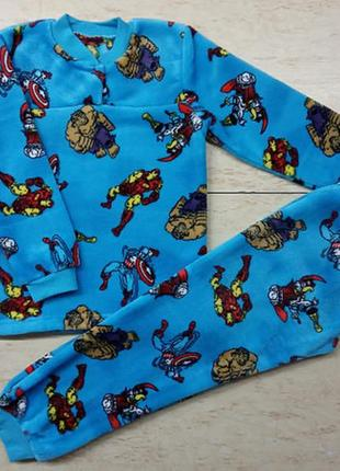 Пижама для мальчика супергерои {велсофт}