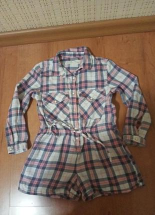 Платье-ромпер на девочку 3-4 года.