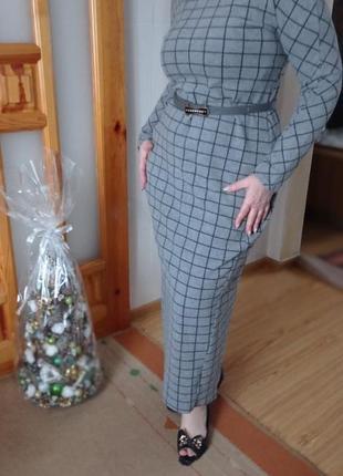 Теплое платье -футляр