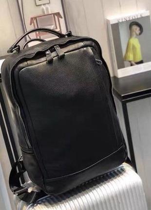 Кожаный городской рюкзак-ручная кладь, кожаный чемодан в дорогу унисекс,шкіряний рюкзак