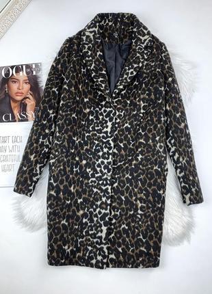 Леопардовое пальто оверсайз