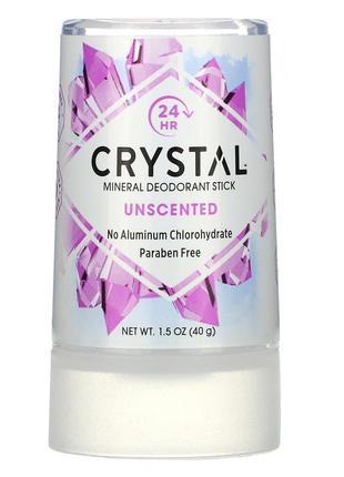 Минеральный дезодорант-карандаш, crystal body deodorant, 40 г