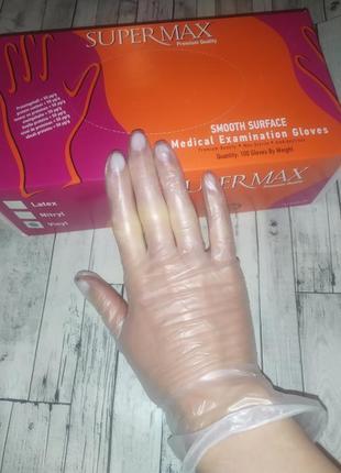 Виниловые перчатки опудренные, вінілові рукавички