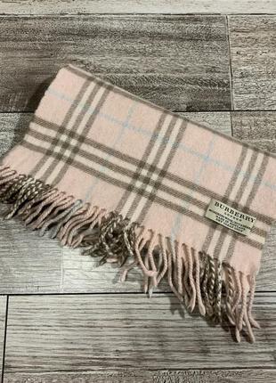 Кашемировый шерстяной шарф дорогого английского бренда burberry оригинал
