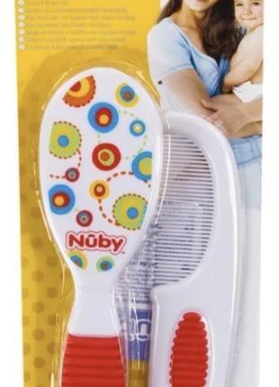 Гребешок и щеточка для волос nuby de luxe