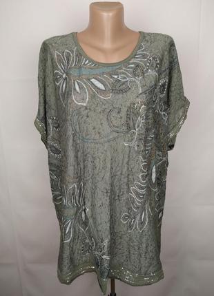 Блуза туника модная оригинальная с паетками uk 16-18