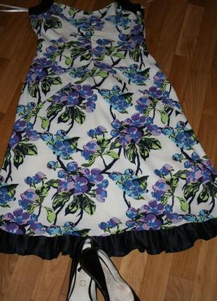 Шелковое элегантное платье-сарафан от karen millen