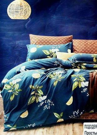 Двуспальное постельное бельё 180×220 комплект постельного белья сатин софт двусторонний
