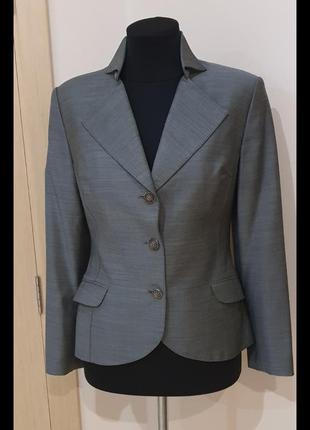 Пиджак - френч,серого цвета, размер 46
