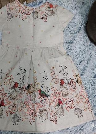 Zara красивое платье на 9-10 лет