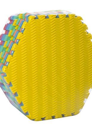 Коврик мат eva массажный коврик разные текстуры 9шт