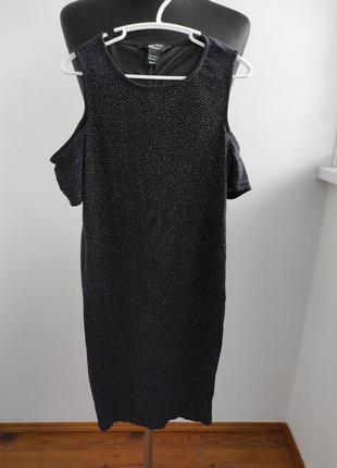 Роскошное платье с открытым плечиками от new look