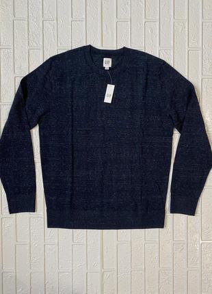 Мужской синий джемпер свитер gap