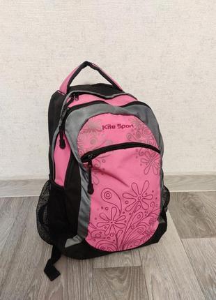 Рюкзак розовый в школу