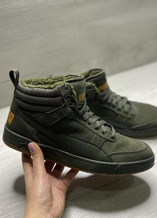 Оригінальні зимові кросівки puma rebound street v2 на меху!