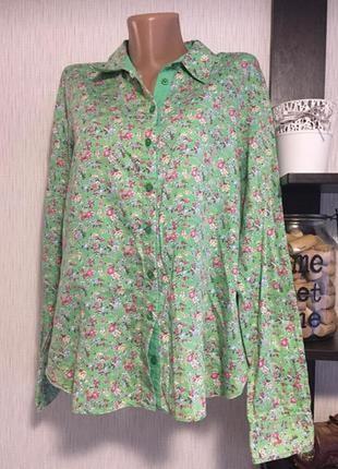 Рубашка в цветочный принт erfo