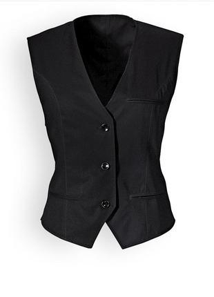Черная  женская жилетка  жилет  для бармена, администратора, официанта размер l,xl