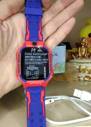 Детские умные часы smart baby watch w40 водонепроницаемые