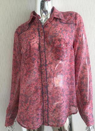 Блузка рубашка в цветок la redoute