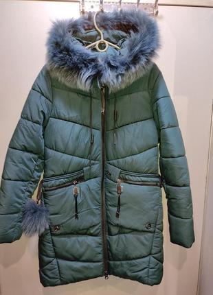 Зимняя куртка натуральный мех песец