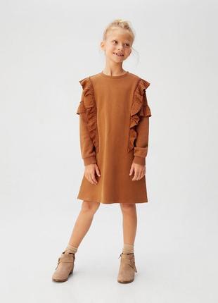 Стильное тёплое платье mango 12-14 лет