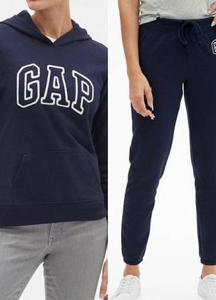 Костюм gap свитшот штаны размер xs-s-м флис теплый