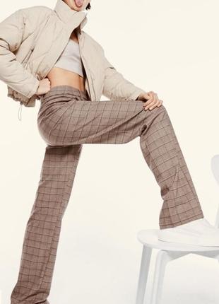 Шерстяные брюки брючки в клетку