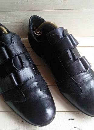 Кожаные монки кросовки gucci