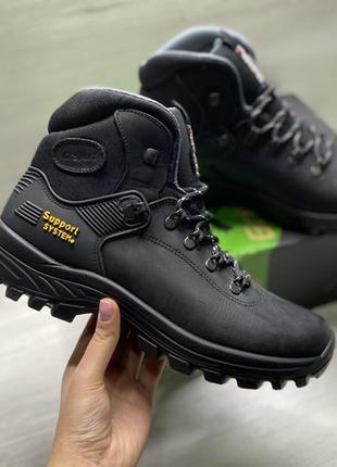 Оригінальні чоловічі черевики grisport nero dakar trekking на меху!