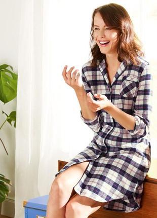 Тёплое байковое домашнее платье-рубашка, халат, пижама esmara