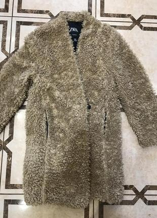 Плюшевая шубка пальто  zara тедди тедді еко hm asos