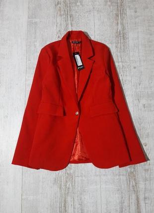 Новый красный пиджак жакет