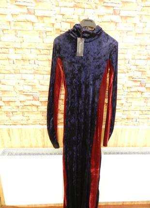 Длинное платье стрейч  велюр бархат