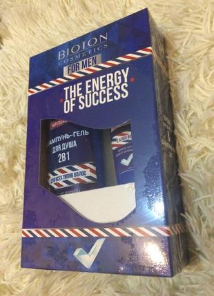 Подарунковий набір для чоловіків біотон bioton гель для душу + крем після гоління