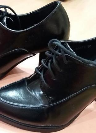 Туфли деми на шнурке