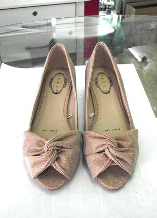Распродажа! красивые и удобные фирм. туфли балетки босоножки debut, р.36